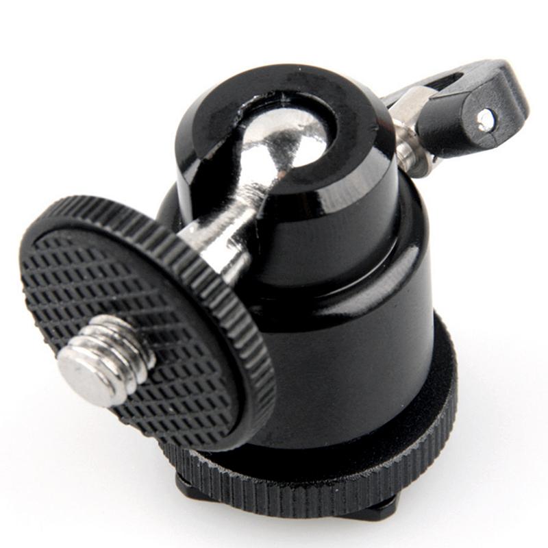 Ball Swivel Head : Mini black quot swivel ball head screw for camera