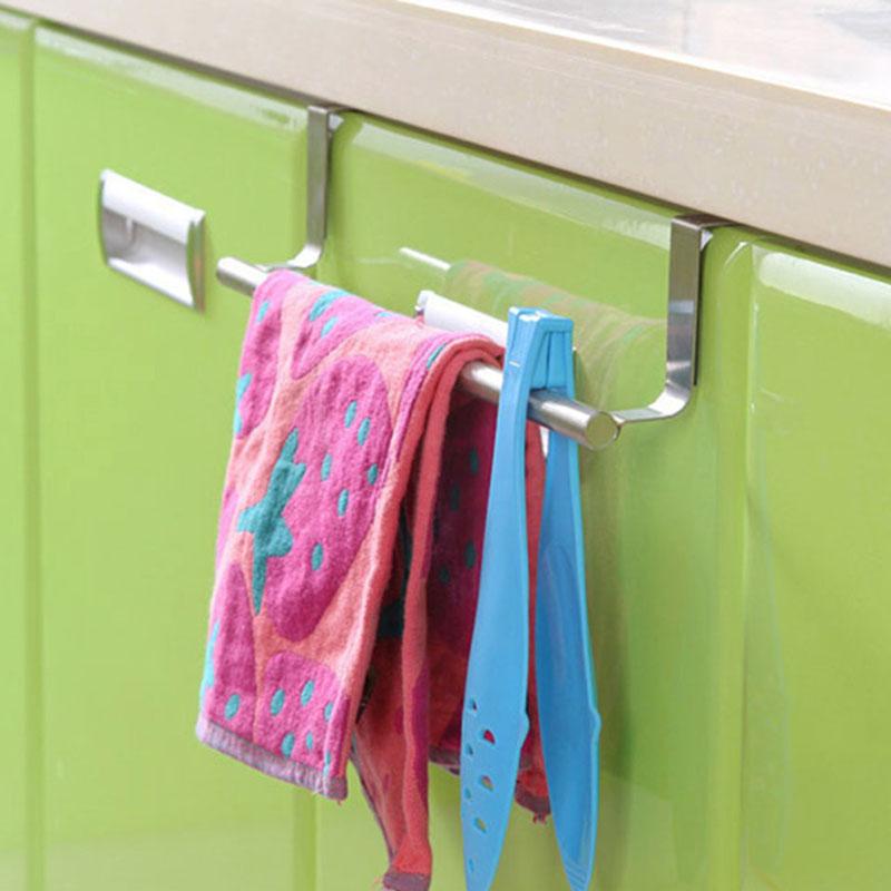 over kitchen cabinet cup board draw door hand towel hook hanger holder ebay. Black Bedroom Furniture Sets. Home Design Ideas