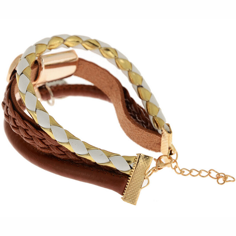 Leather Wrap Charm Bracelet: Fashion Bracelet Jewelry Leather Infinity Charm Cuff