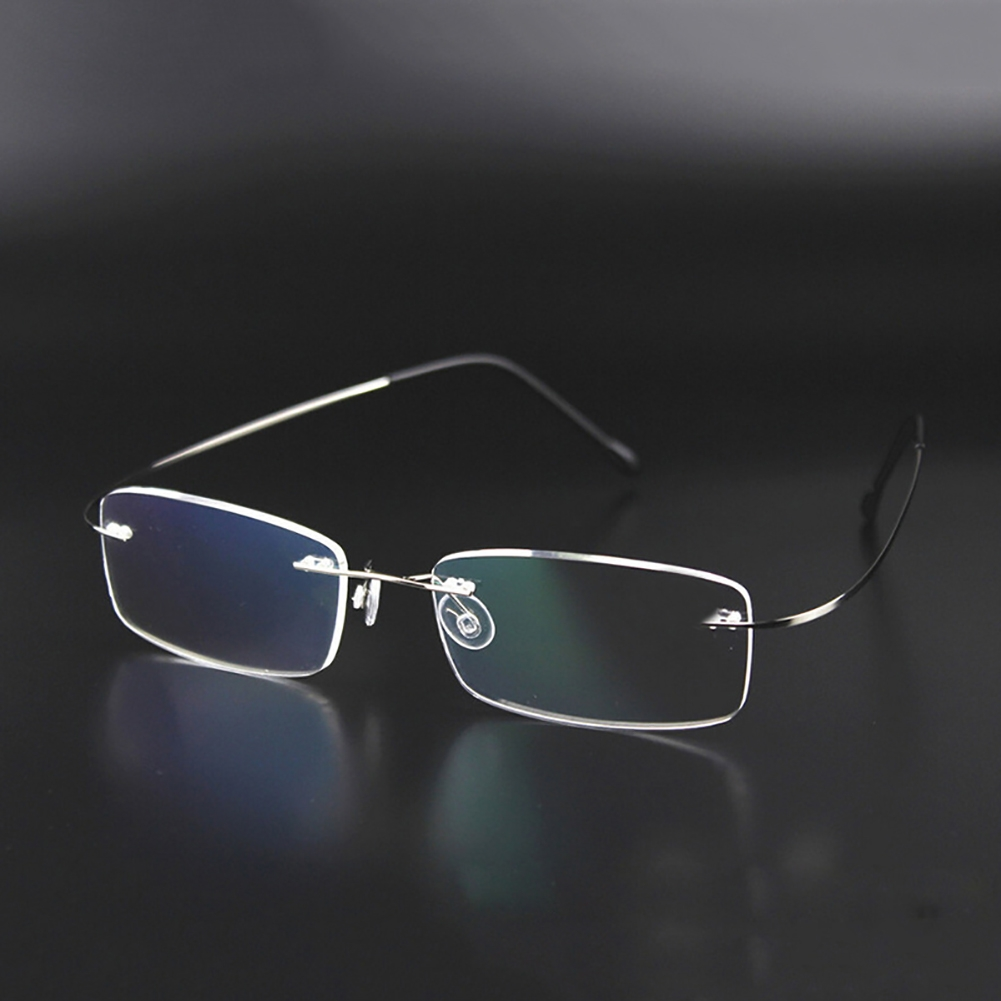 Rimless Eyeglass Frames Problems : Rimless Glasses Men Rx Optical Eyeglasses Memory Titanium ...
