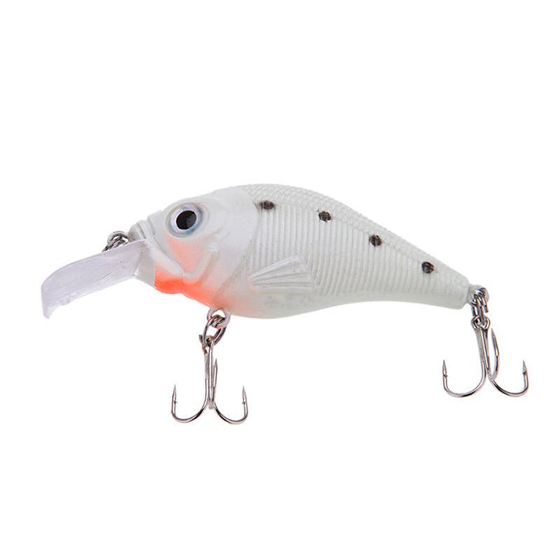 Minnow night fishing lure plastic bass crank bait hooks for Best night fishing lures