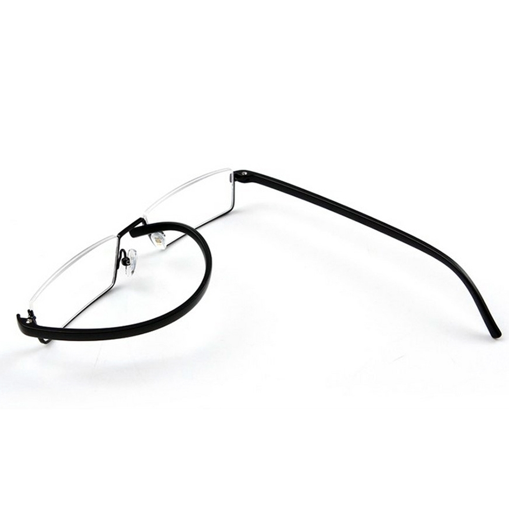unisex black tr90 reading glasses semi rimless 1 50 2 50