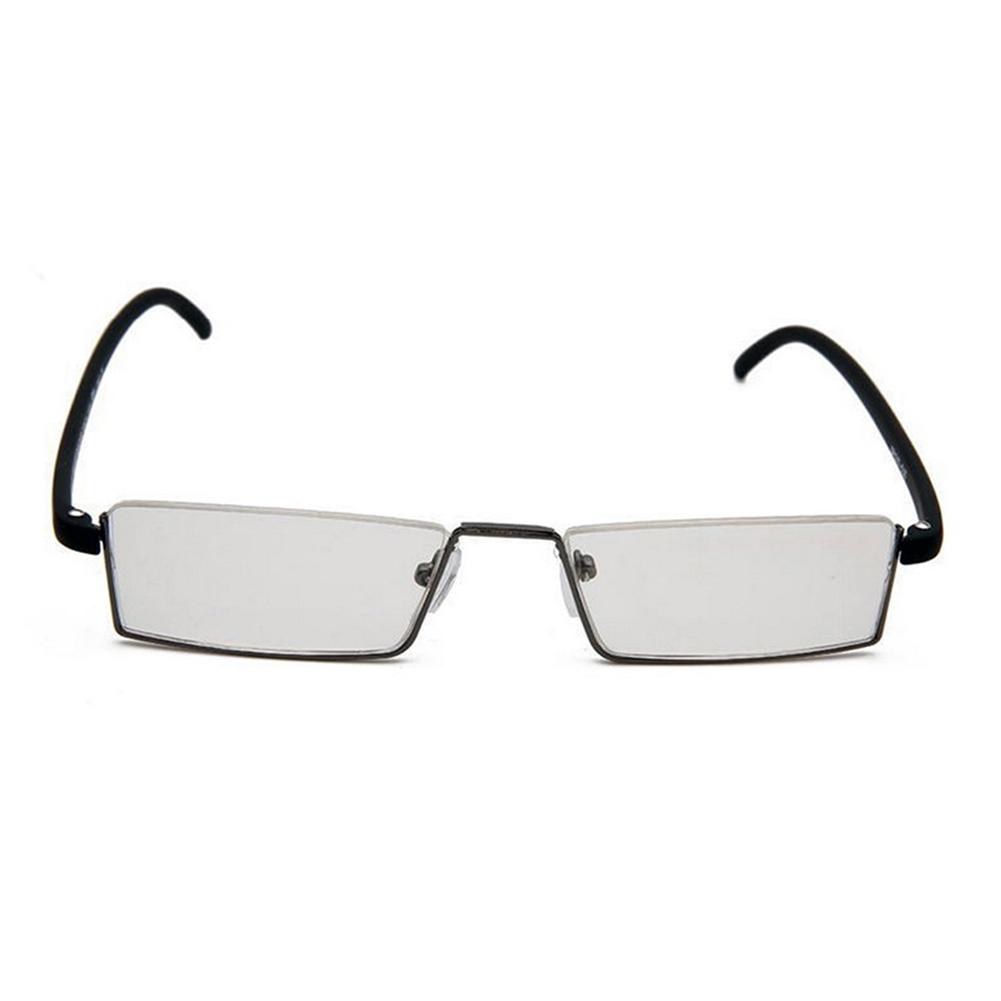 Reading Glasses Half Frame Rimless : Flexible Fashion Black Tr90 Half Frame Semi Rimless Reader ...