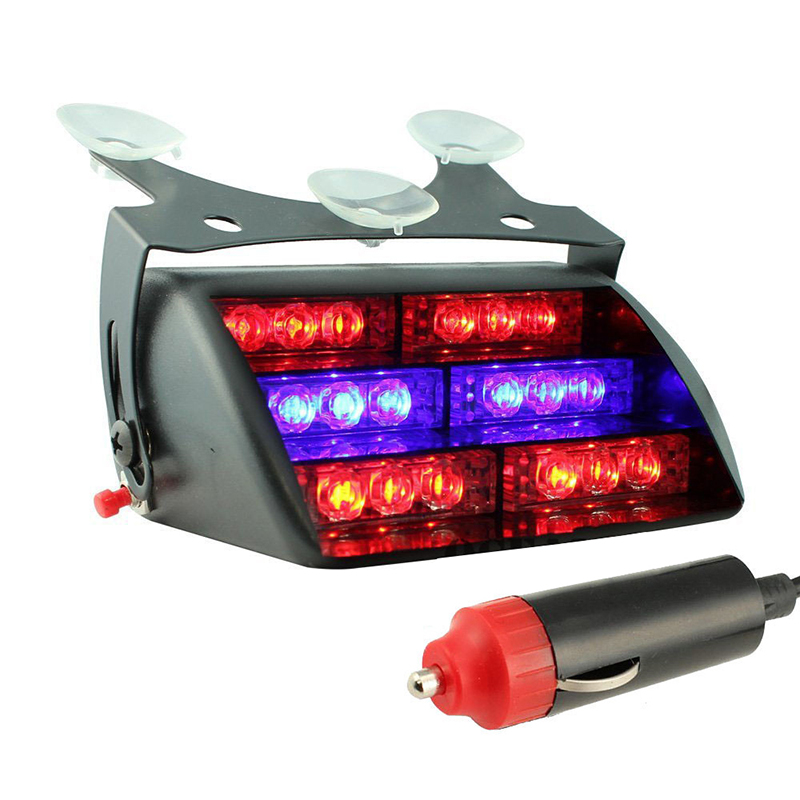 18 red led firefifgter vehicle emergency dash warning. Black Bedroom Furniture Sets. Home Design Ideas