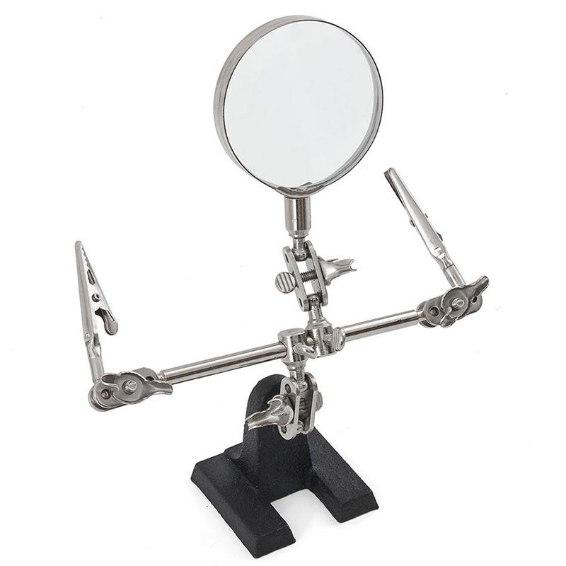 help hands desktop jewelry repair soldering iron clamp magnifying glass tool. Black Bedroom Furniture Sets. Home Design Ideas