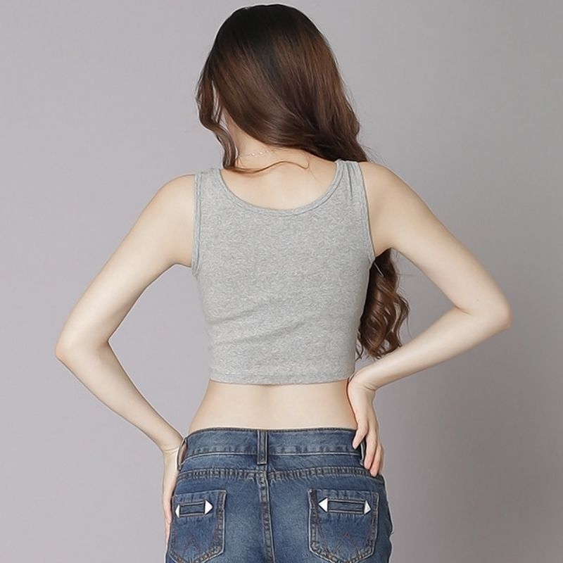 Sexy Womens Scoop Neck Crop Belly Vest Sleeveless Midriff