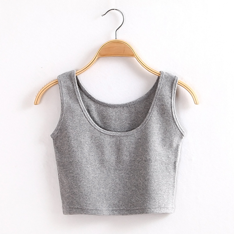 New Sexy Womens Scoop Neck Crop Belly Top Vest Sleeveless