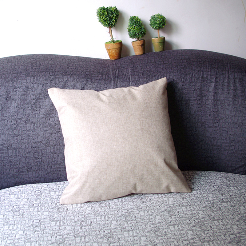 Vintage Letters Cotton Linen Throw Cushion Cover Sofa Bed