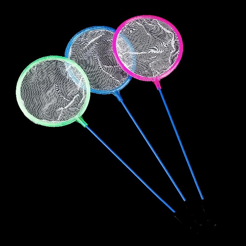 1pcs mix color dense mesh round small pore fishing net for Small fishing net