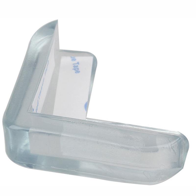 20pcs clear table desk corner edge guard cushion baby safety bumper protector ebay. Black Bedroom Furniture Sets. Home Design Ideas