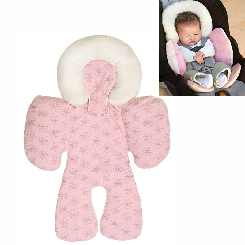 newborn baby head body support infant pram stroller car seat pillow two sided ebay. Black Bedroom Furniture Sets. Home Design Ideas