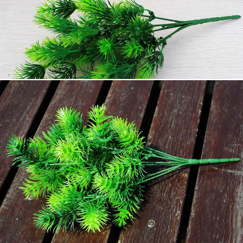 1pc plastic fake green mini pine tree artificial plant