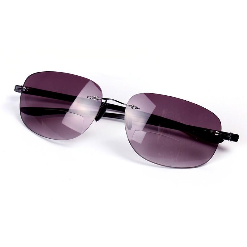 new bifocal rimless magnifying reading glasses sunglasses
