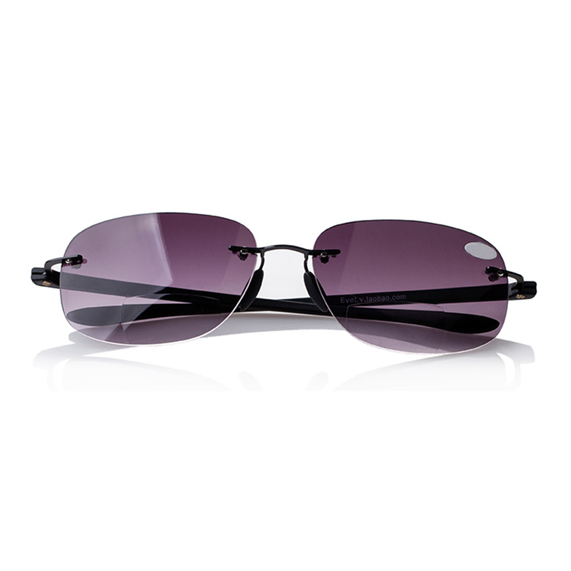 42ac9a4c1a New Bifocal Rimless Magnifying Reading Glasses Sunglasses Sun Readers  1.0-3.5