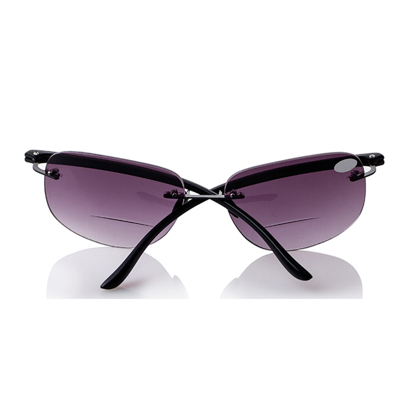 Rimless Bifocal Glasses : New Bifocal Rimless Magnifying Reading Glasses Sunglasses ...