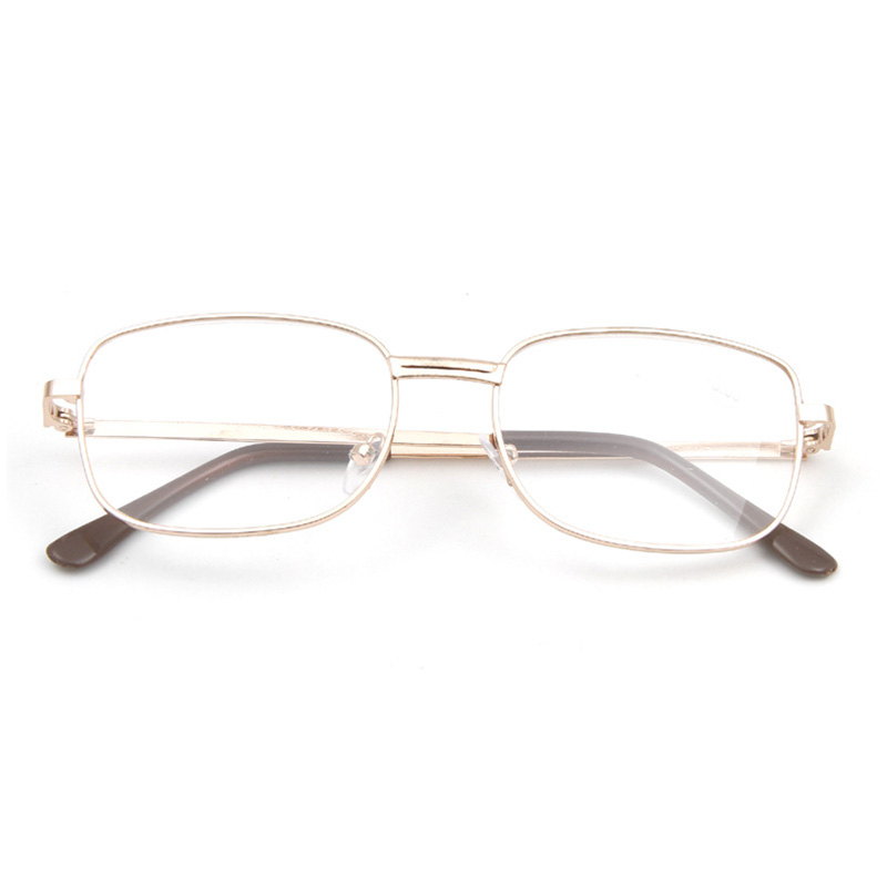 Fashion Lens Rimmed Mens Reading Glasses Gold Metal Frame ...