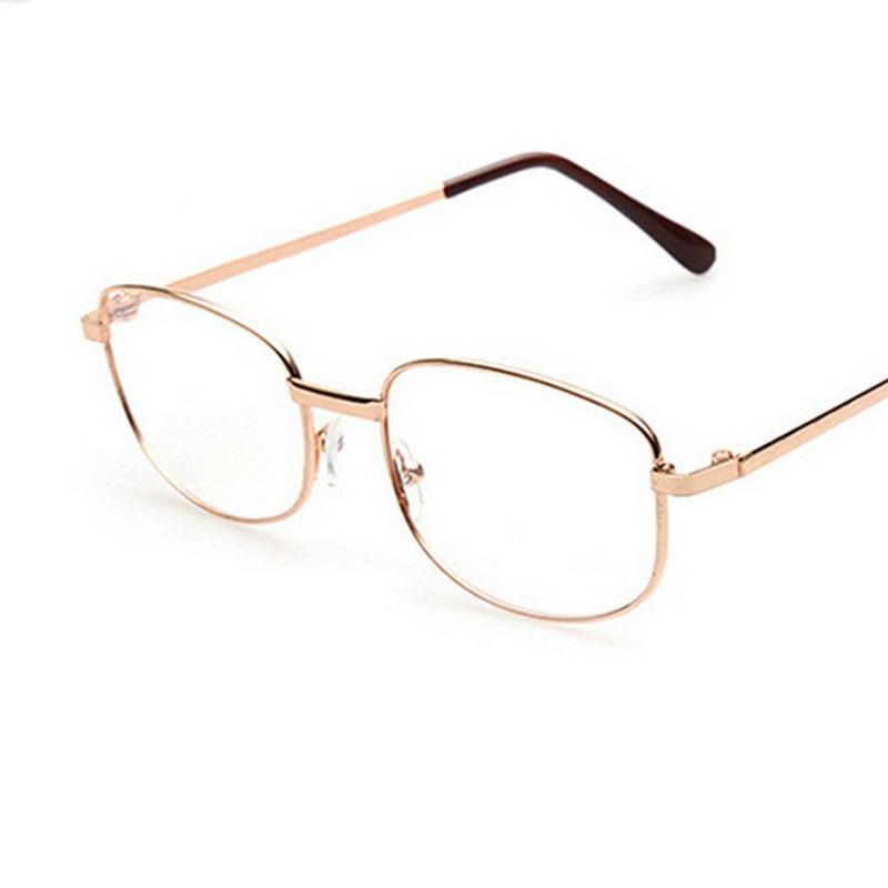 Gold Metal Eyeglass Frames : Fashion Lens Rimmed Mens Reading Glasses Gold Metal Frame ...