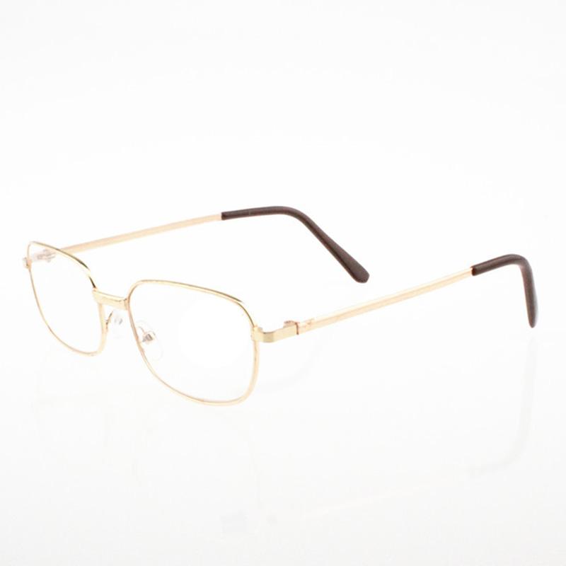 Reading Glasses Lens Rimmed Gold Frame Metal Eyeglasses +1 ...