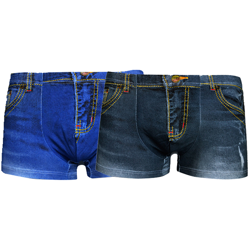 neu herren 3d jeans muster unterw sche boxershorts. Black Bedroom Furniture Sets. Home Design Ideas