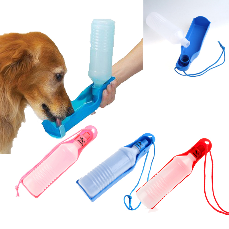 250ml Foldable Pet Dog Water Bottle Outdoor Travel: Potable 250ml Pet Dog Cat Water Feeding Drink Bottle