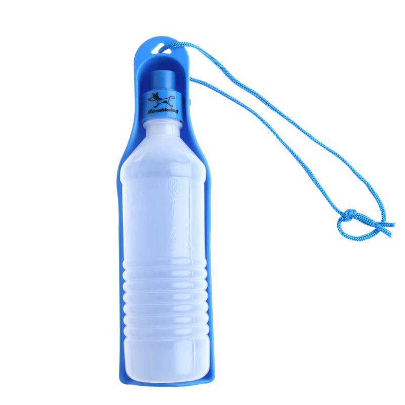Travel Dog Water Bottle Dispenser: Potable 250ml Pet Dog Cat Water Feeding Drink Bottle