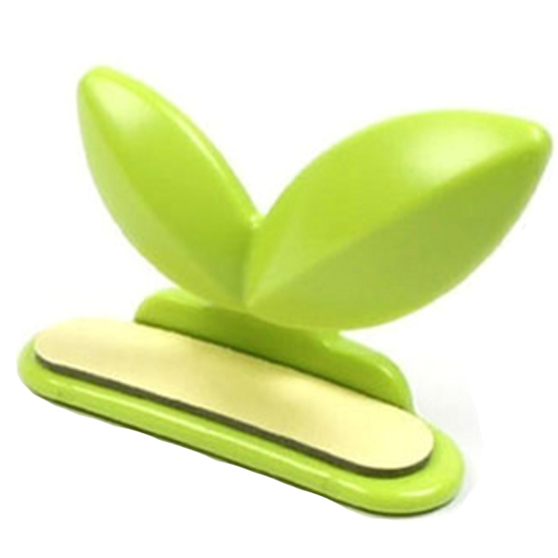 1pc Leaf Shape Toilet Seat Lifter Handle Hygienic Clean Self Adhesive Lift Lower