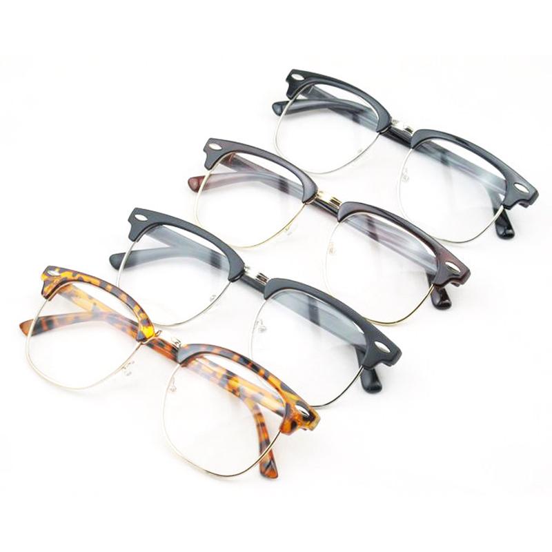 Vintage Half Frame Lens Clear Reading Glasses Geek Eyewear ...