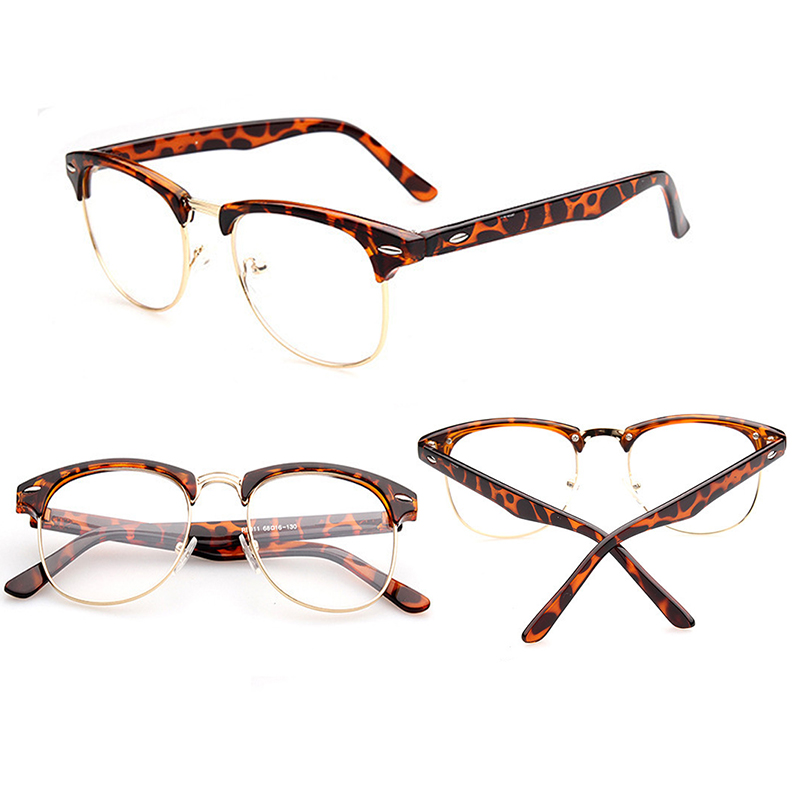Retro Half Frame Lens Clear Reading Glasses Geek Eyewear ...