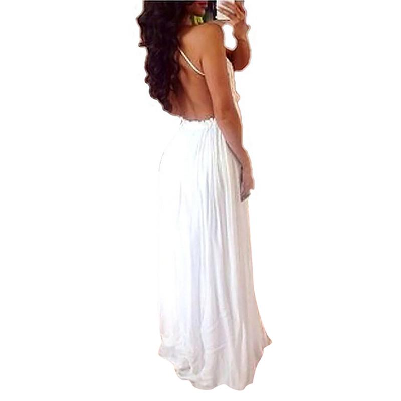 Sexy white sundress