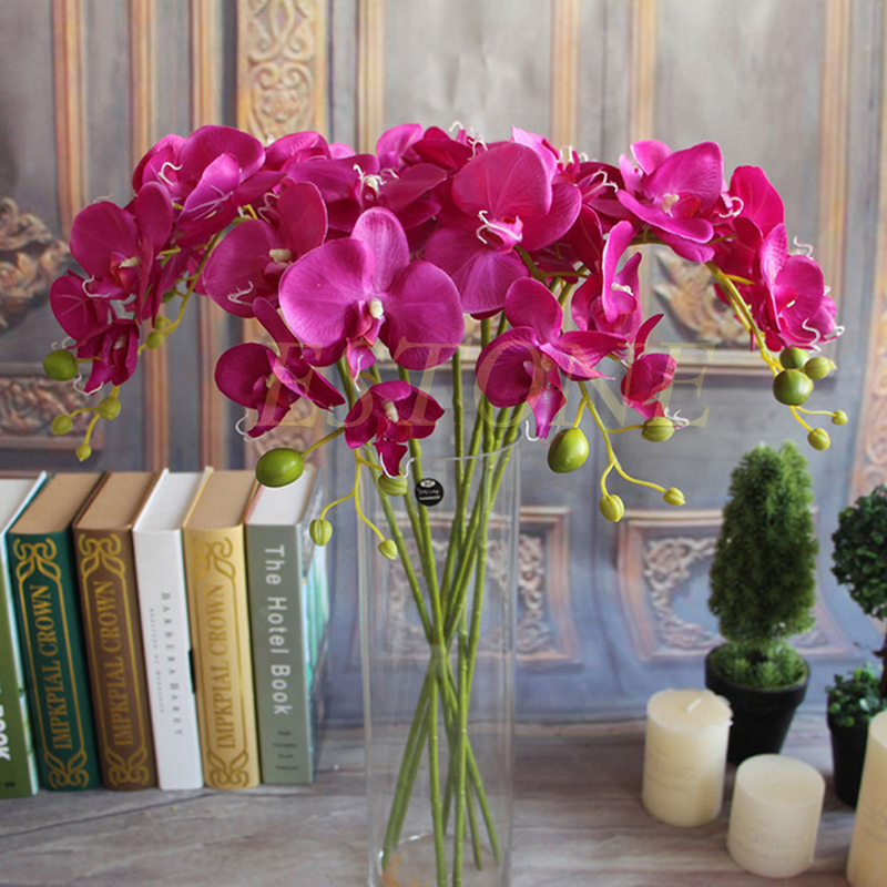 Artificial silk flower butterfly orchid home wedding decor for Orchid decor