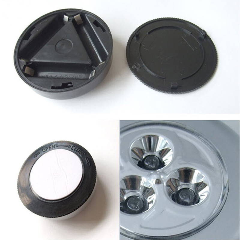 neu mini 3 led drahtlos wand ber hren kontrolle lampe k che batterie nacht licht. Black Bedroom Furniture Sets. Home Design Ideas