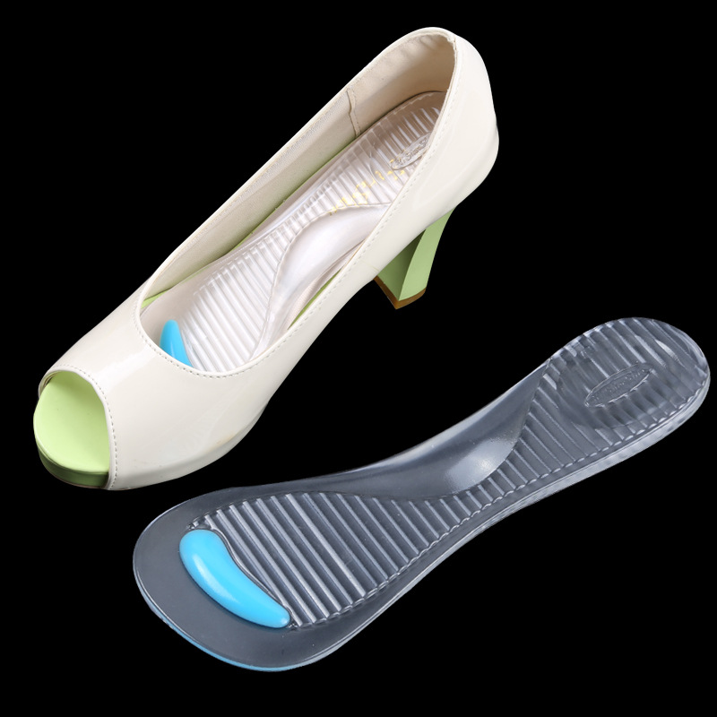 1 pair gel non slip arch support pads shoe insoles cushion