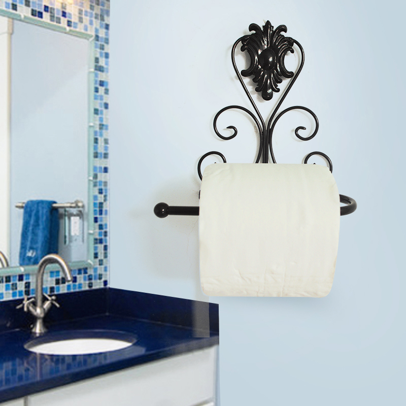 new toilet paper tissue roll wall mounted holder stand iron bathroom organizers ebay. Black Bedroom Furniture Sets. Home Design Ideas