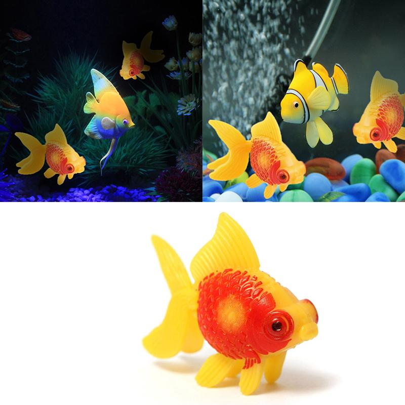 1 x aquarium fish tank plastic swimming faux fake gold for Aquarium decoration for goldfish