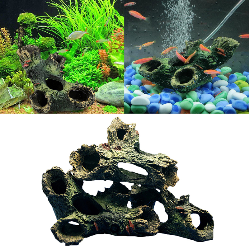 3pcs resin tree trunk aquarium ornament root wood drift for Aquarium wood decoration