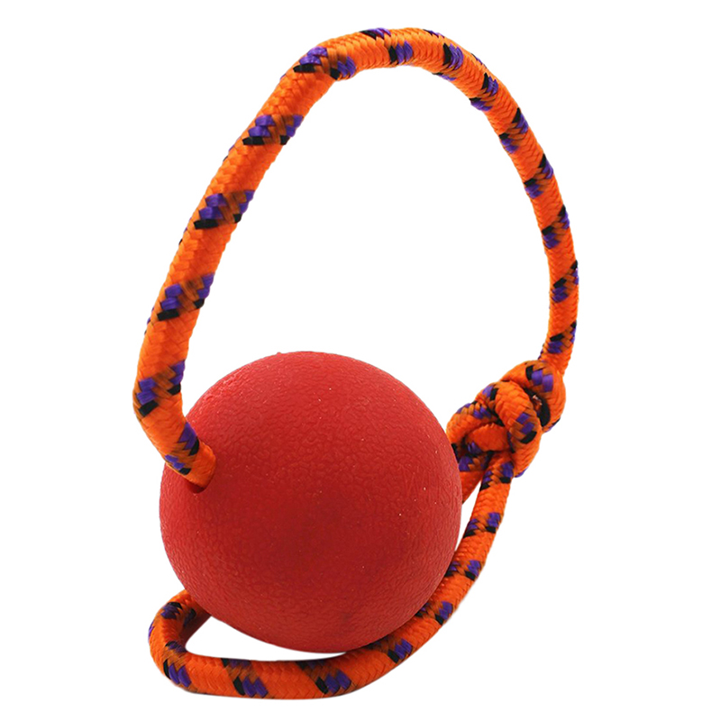 Rubber Ball Dog Toy : Indestructible solid rubber ball pet cat dog training chew