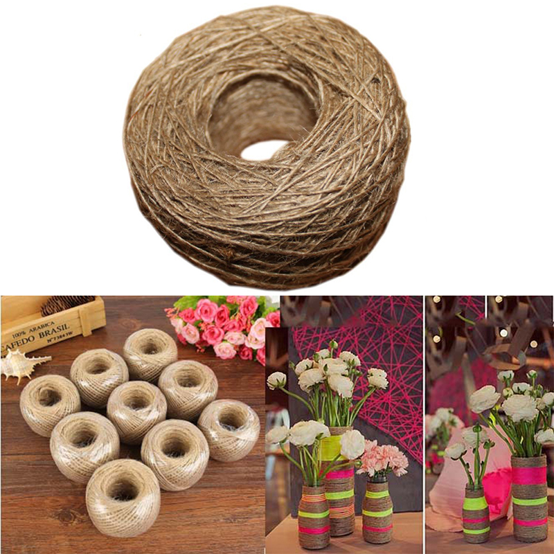 100M/Roll Natural Jute Rope Twine String Cord For DIY