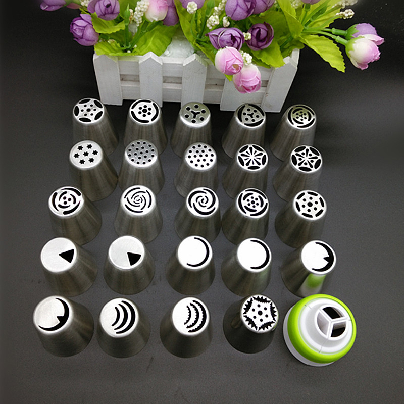 24pcs Russian Tulip Icing Piping Nozzles Cake Decoration ...