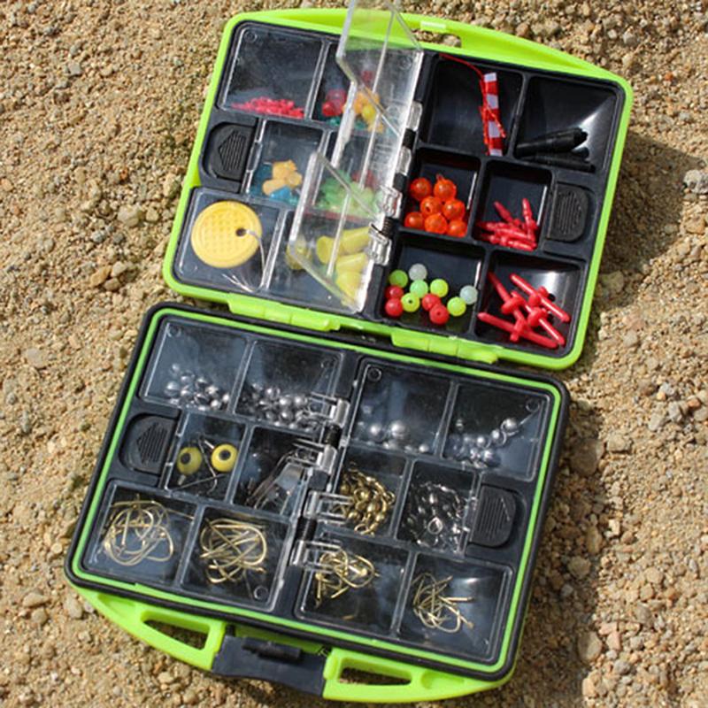 Waterproof carp sea fishing tackle box hook lure baits jig for Fishing tackle kits