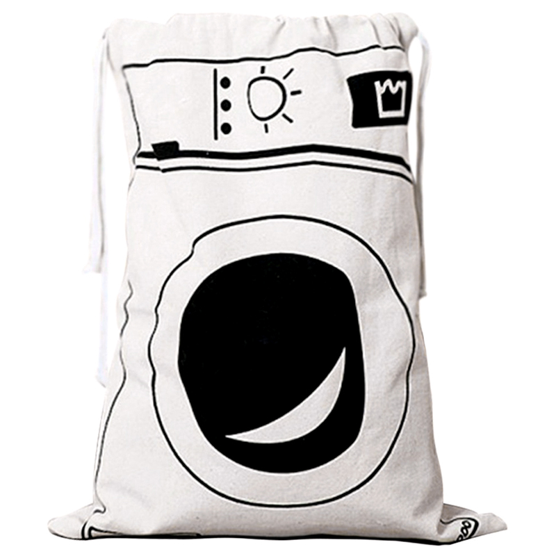 cute large drawstring canvas bag kids baby toys clothing laundry storage bags ebay. Black Bedroom Furniture Sets. Home Design Ideas
