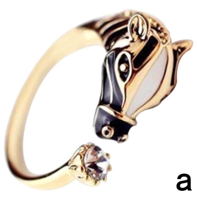 Mens Ring Horse Head Horse Shoes