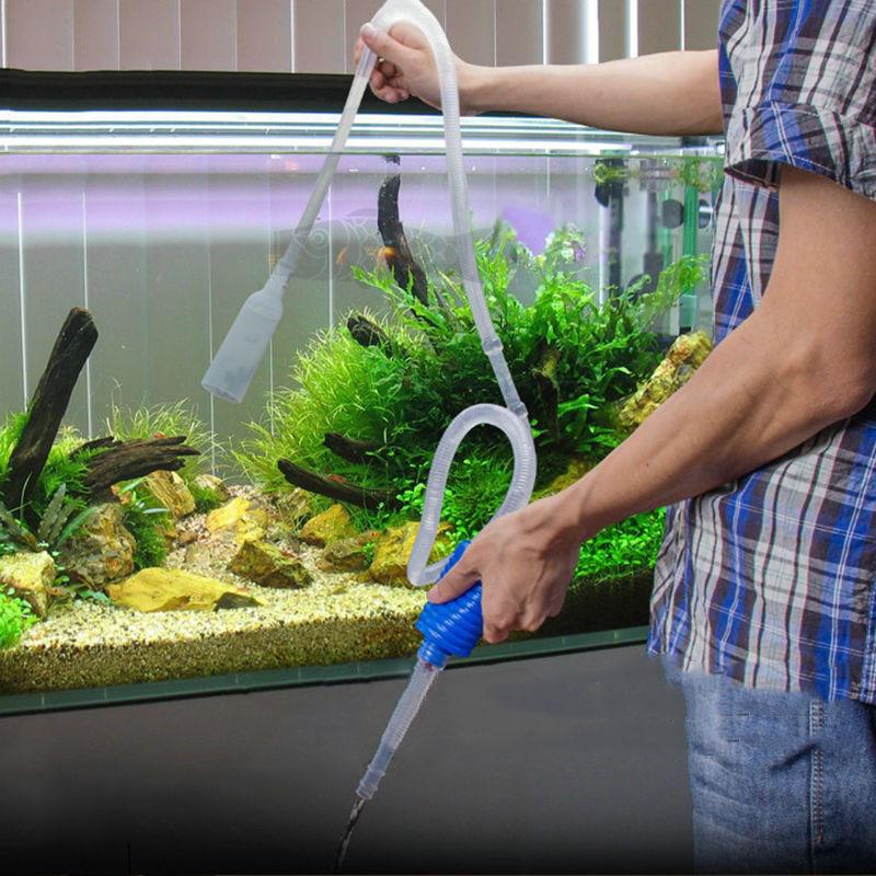 Aquarium fish tank cleaning vacuum water change gravel for Fish tank cleaners