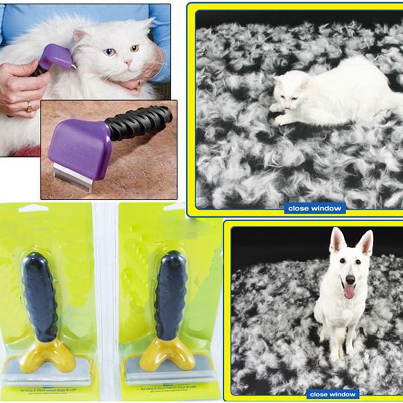 Professional Pet Cat Dog Hair Fur Shedding Trimmer