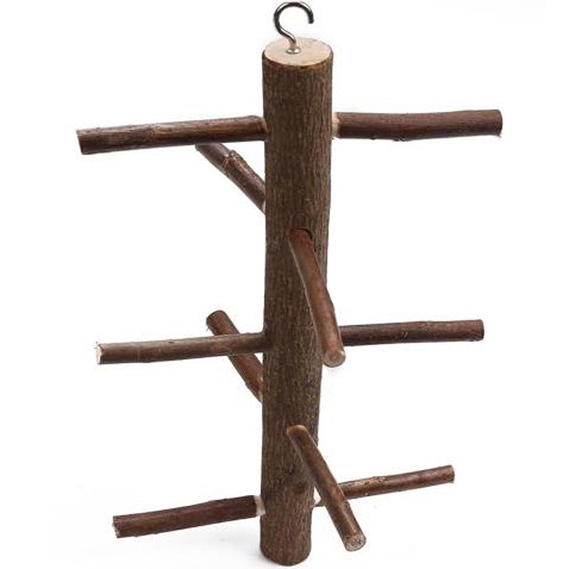wooden hanging swing climbing frame ladder play toy for aviary perch bird parrot ebay. Black Bedroom Furniture Sets. Home Design Ideas