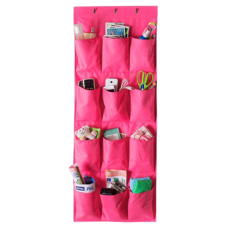 12 pocket space door hanging organizer storage rack wall for 12 pocket over the door shoe organizer