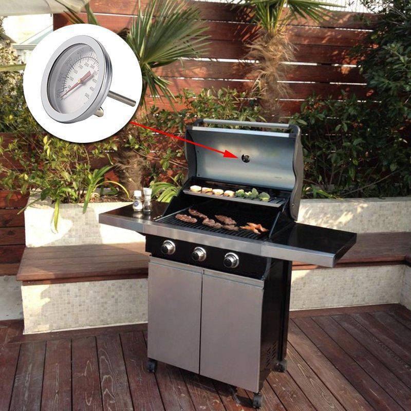 ℃ stainless steel barbecue smoker grill thermometer