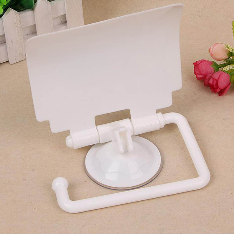 Bathroom Plastic Suction Cup Toilet Tissue Roll Paper