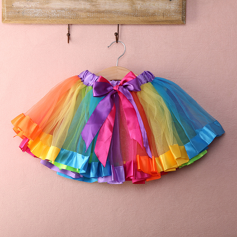 Tutus Tutu: Kids Baby Lovely Colorful Tutu Skirt Girls Rainbow Tulle