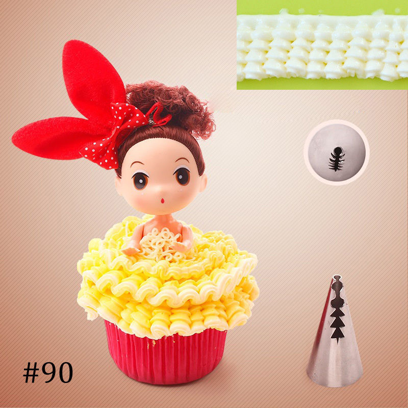 5PCS Top Icing Piping Nozzles Tips Fondant Cake Decorating ...