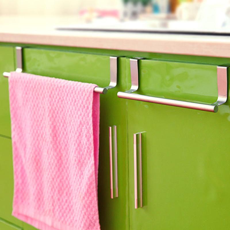 Dishcloth Hanger: Adjustable Over Kitchen Cabinet Cupboard Draw Door Hand